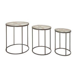 Orianna Contemporary 3 Piece Nesting Tables