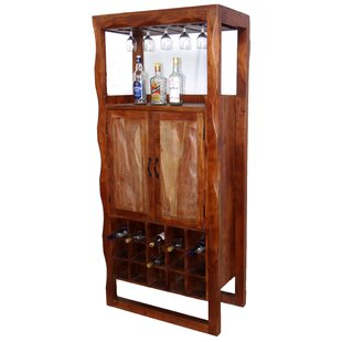 Mccleery Solid Wood Floor Wine Glass Rack by Millwood Pines
