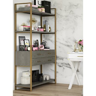Alfie Metal Etagere Bookcase by CosmoLiving by Cosmopolitan SKU:AD674804 Price Compare
