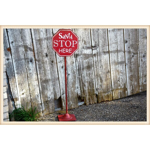 Santa Stop Here sign personalised Christmas sign shabby wooden decoration gift