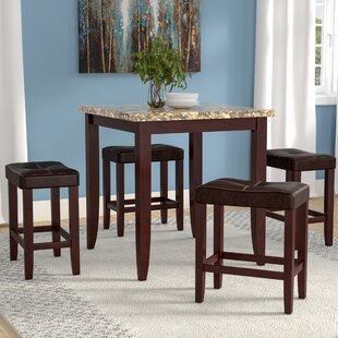 Latitude Run Dejean 5 Piece Counter Height Dining Set