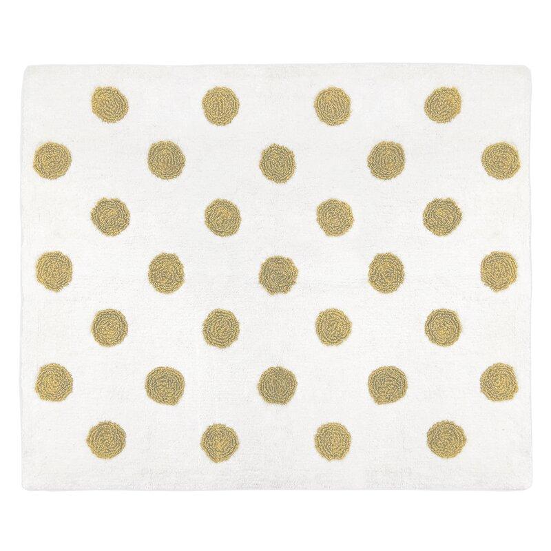 Sweet Jojo Designs Amelia Hand Tufted Cotton Metallic Gold