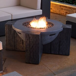 Dominique Concrete Propane Fire Pit Table