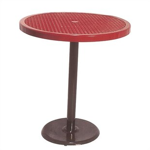 Portable Round Food Court Picnic Table with Perforated Pattern