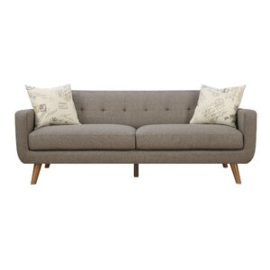 Hoeft Mid Century Modern Sofa & Pillow Set