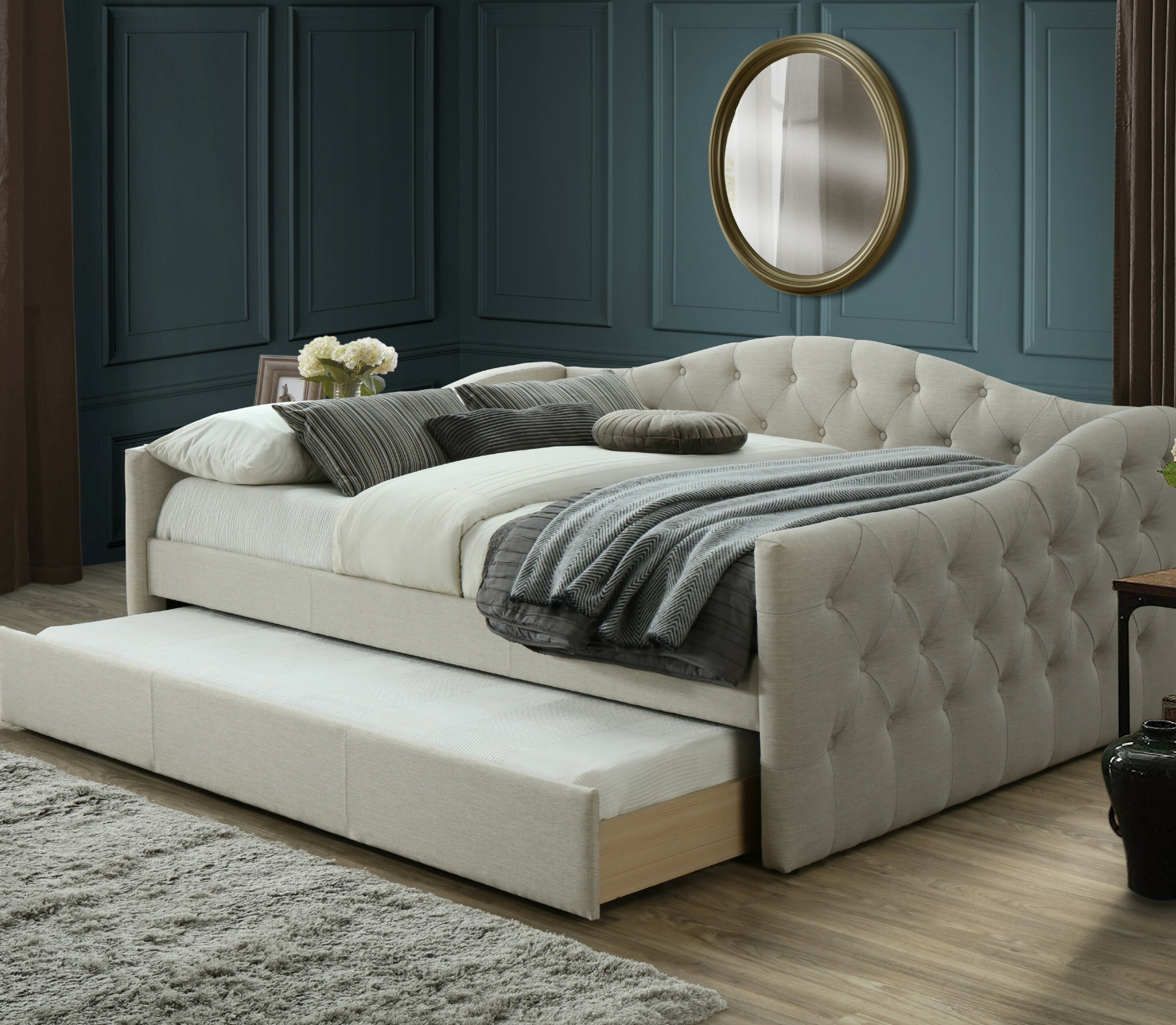 House Of Hampton Hollandsworth Queen Day Bed With Trundle