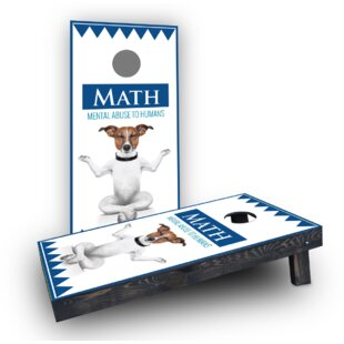 Custom Cornhole Boards MATH Dog Cornhole Boards (Set of 2)