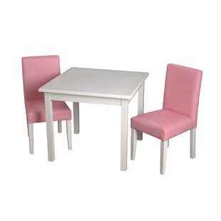 Brazoria Children's Kids 3 Piece Writing Table and Chair Set