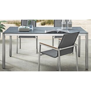 Jetter Stainless Steel Dining Table By Sol 72 Outdoor