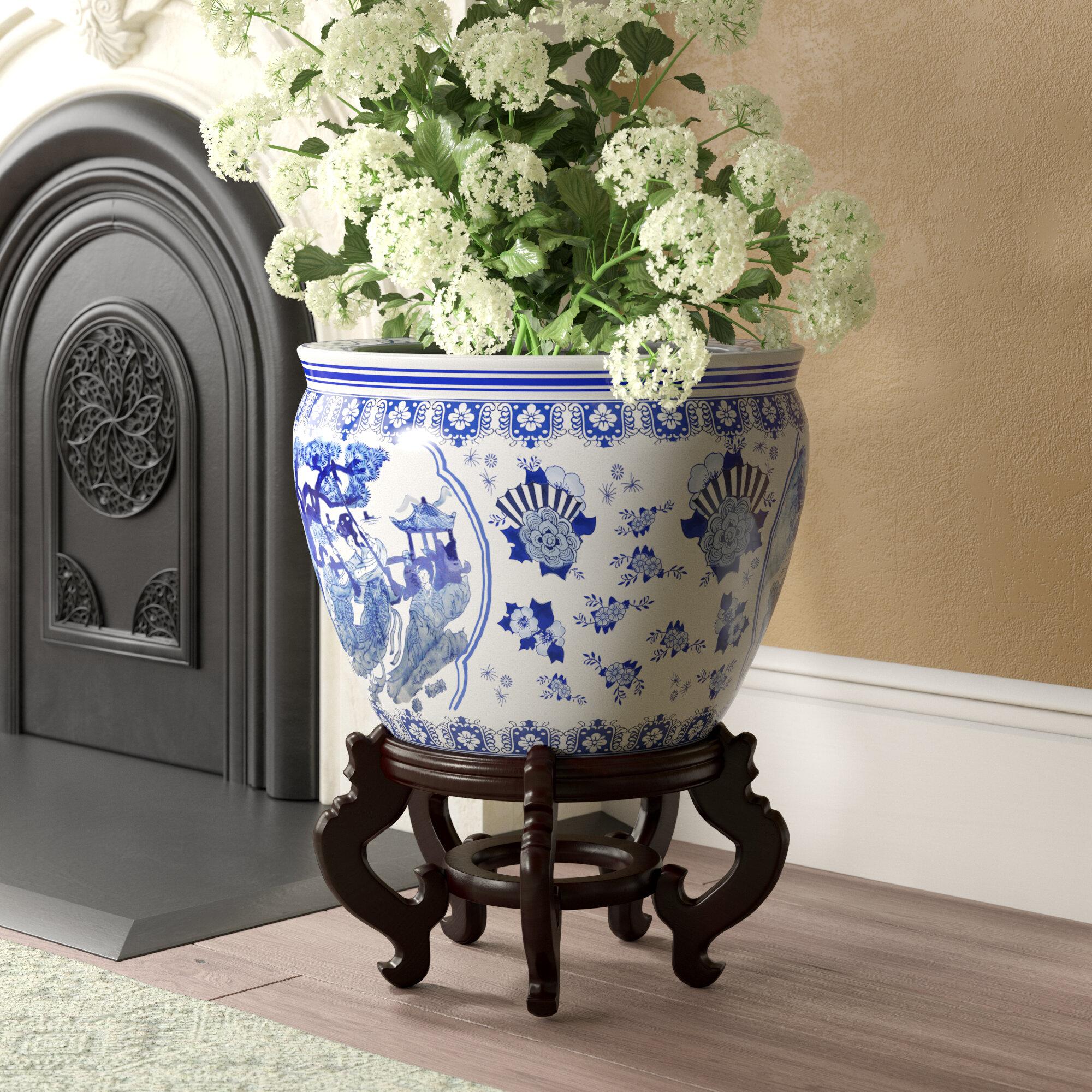 1 Piece Chinese Porcelain Pot Planter