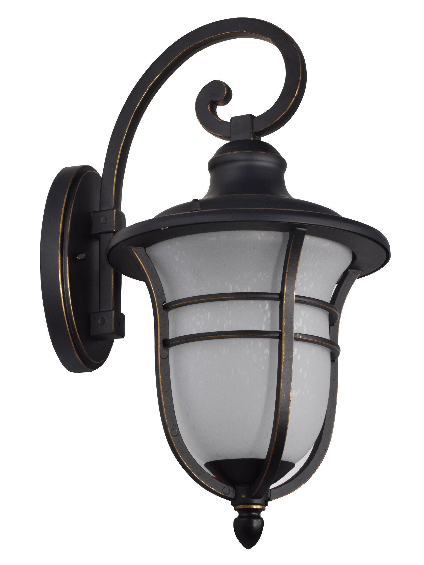 Charlton Home Micaela Led Outdoor Wall Lantern Wayfair