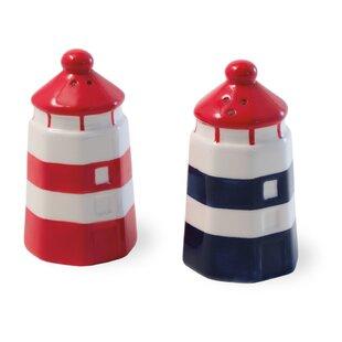 Anchors away Shaker 2 Piece Salt and Pepper Set (Set of 2)