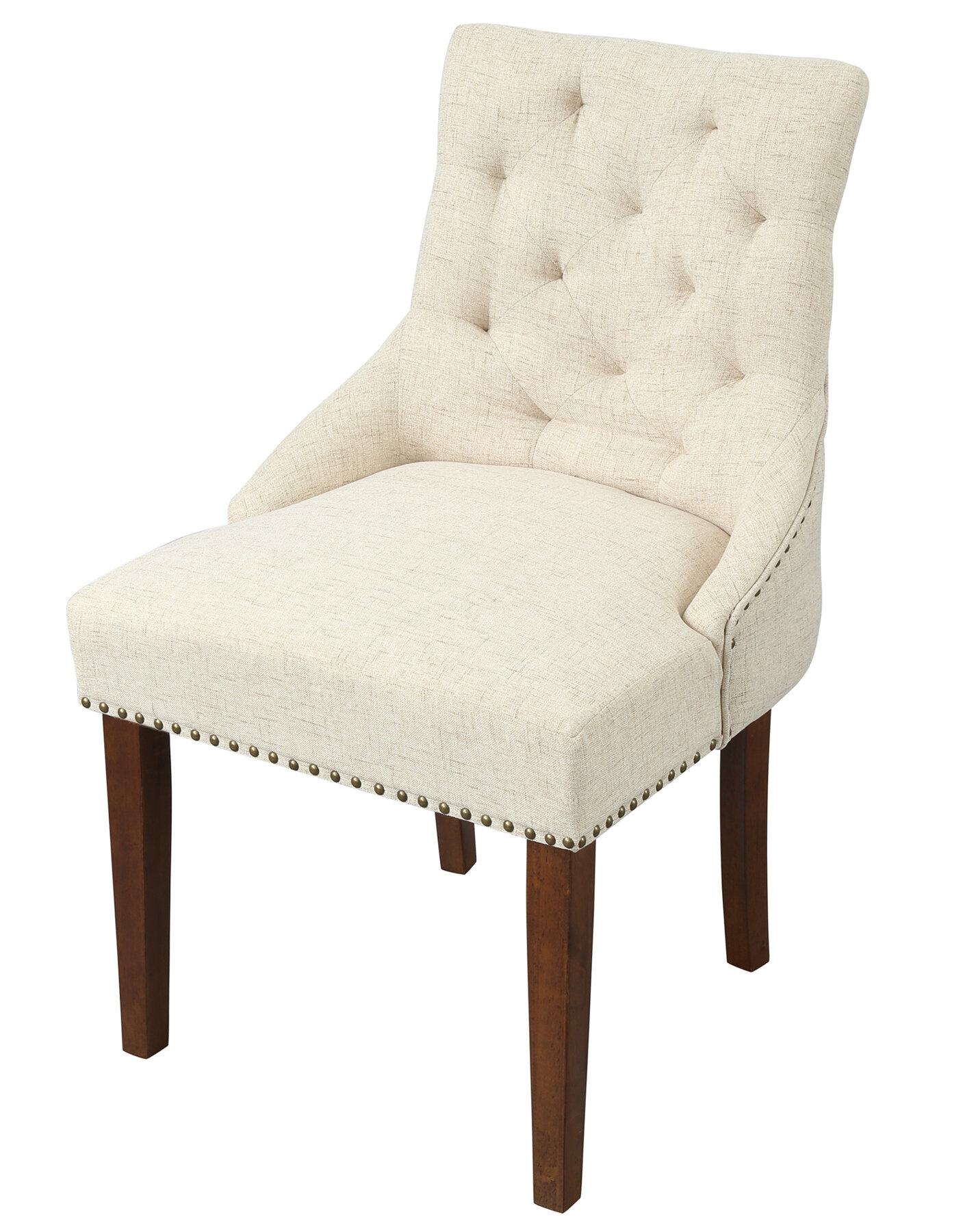 Ophelia Co Hammondville Tufted Linen Upholstered Dining Chair Wayfair