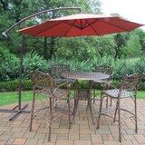 Thelma 6 Piece Bar Height Dining Set with Umbrella
