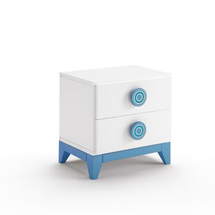 Pamplona 2 Drawer Bedside Table by Just Kids