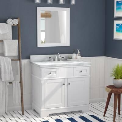 Rhine Solid Wood 37 Single Bathroom Vanity Set With Mirror