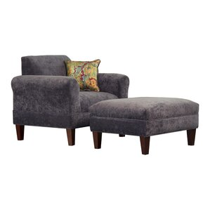 Tracy Porter Armchair and Ottoman with..
