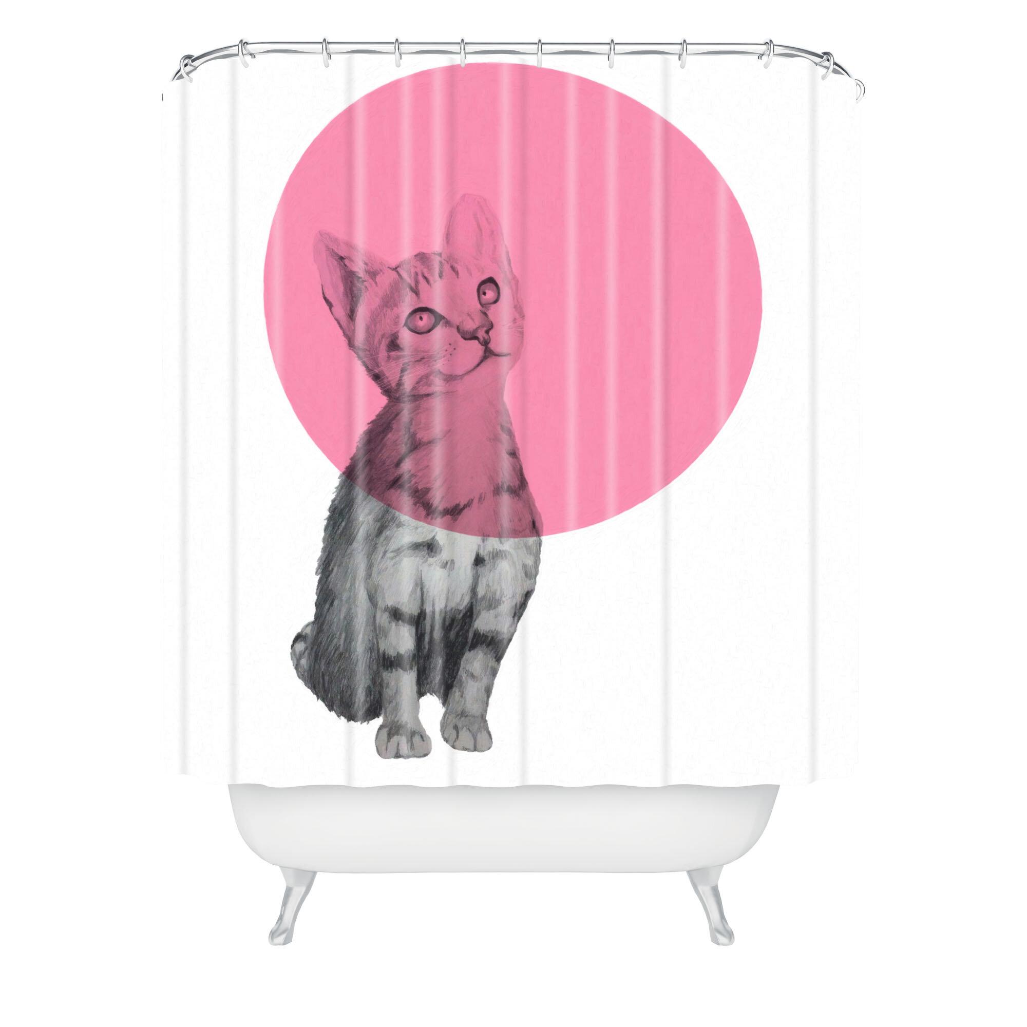 East Urban Home Morgan Kendall Cat Single Shower Curtain Wayfair