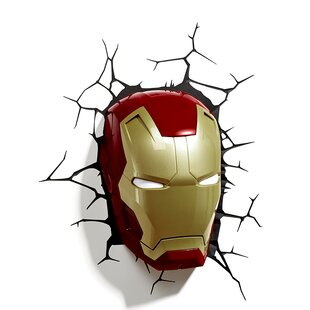 3D Light FX 3D Iron Man Mask Deco 2-Light Night Light