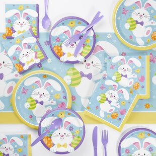 Holleman Bunny Paper/Plastic Disposable Party Supplies Kit