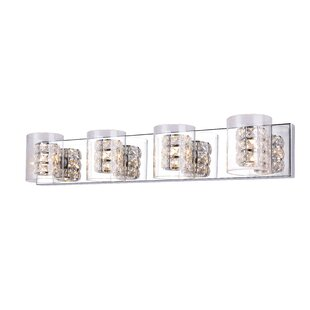 Orren Ellis Jamell Crystal 4-Light Vanity Light