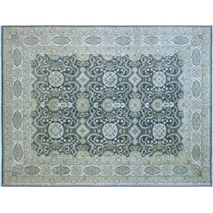 One-of-a-Kind Romona Hand-Knotted Oriental Rectangle Gray Wool Area Rug ByIsabelline