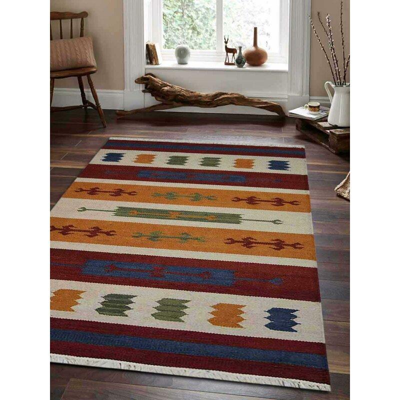 Loon Peak Clare Southwestern Handmade Flatweave Wool Multicolor Area Rug Reviews Wayfair