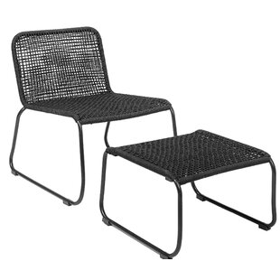 Kistler Side Chair and Ottoman by Bungalow Rose