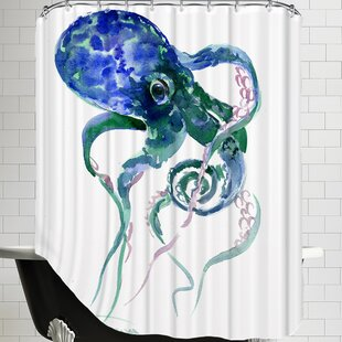 Octopus Shower Curtain by East Urban Home