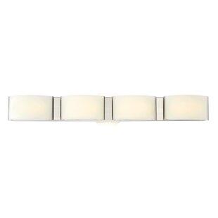 Reviews Goodsell 4-Light Bath Bar By Ebern Designs