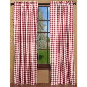 Alette Plaid & Check Semi-Sheer Curtain Panels (Set of 2)