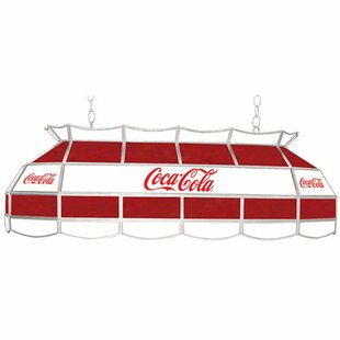 Trademark Global Coca Cola Vintage 3-Light Pool Table Light