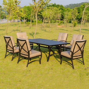 Darby Home Co Kemper 7 Piece Dining Set with Cushions
