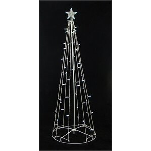 led lighted outdoor christmas cone tree decoration - White Outdoor Christmas Tree