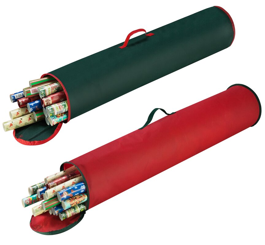 The Holiday Aisle Christmas Gift Stand Up Wrapping Paper Storage Bag