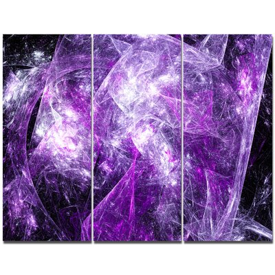 'Mystic Purple Fractal Wallpaper' Graphic Art Print Multi-Piece Image on Canvas DesignArt