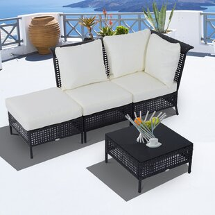 Outsunny 2 Seater Rattan Effect Sofa Set Image