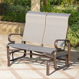 Ebern Designs Canales Outdoor Double Glider Bench