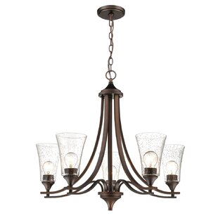 Deals Elaina 5-Light Shaded Chandelier By Charlton Home