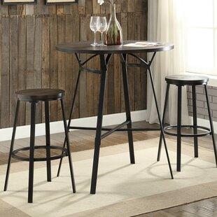 Marlar 3 Piece Pub Table Set Gracie Oaks