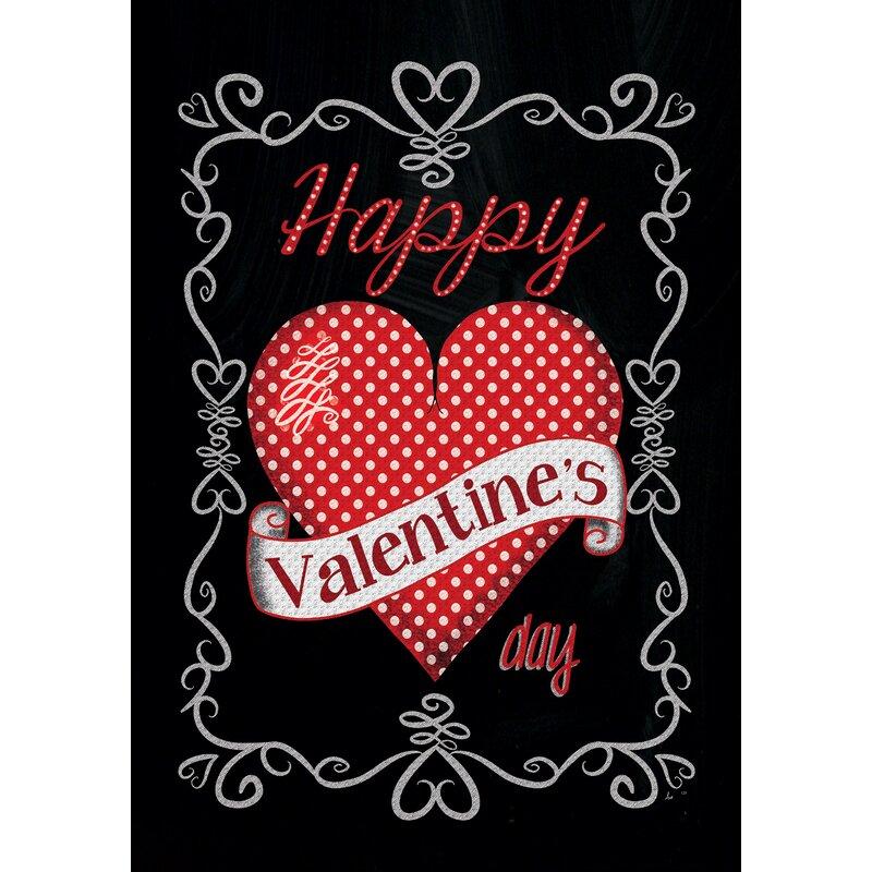 Custom Decor Valentines 2 Sided Polyester 40 X 28 In House Flag Wayfair