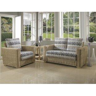 Review Dizon 3 Piece Conservatory Sofa Set