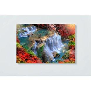 Waterfall Motif Magnetic Wall Mounted Cork Board By Ebern Designs