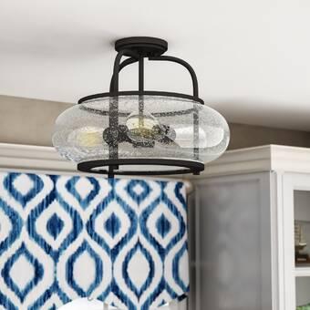 Joss Main Dillman 4 Light 17 5 Caged Geometric Semi Flush Mount Reviews Wayfair
