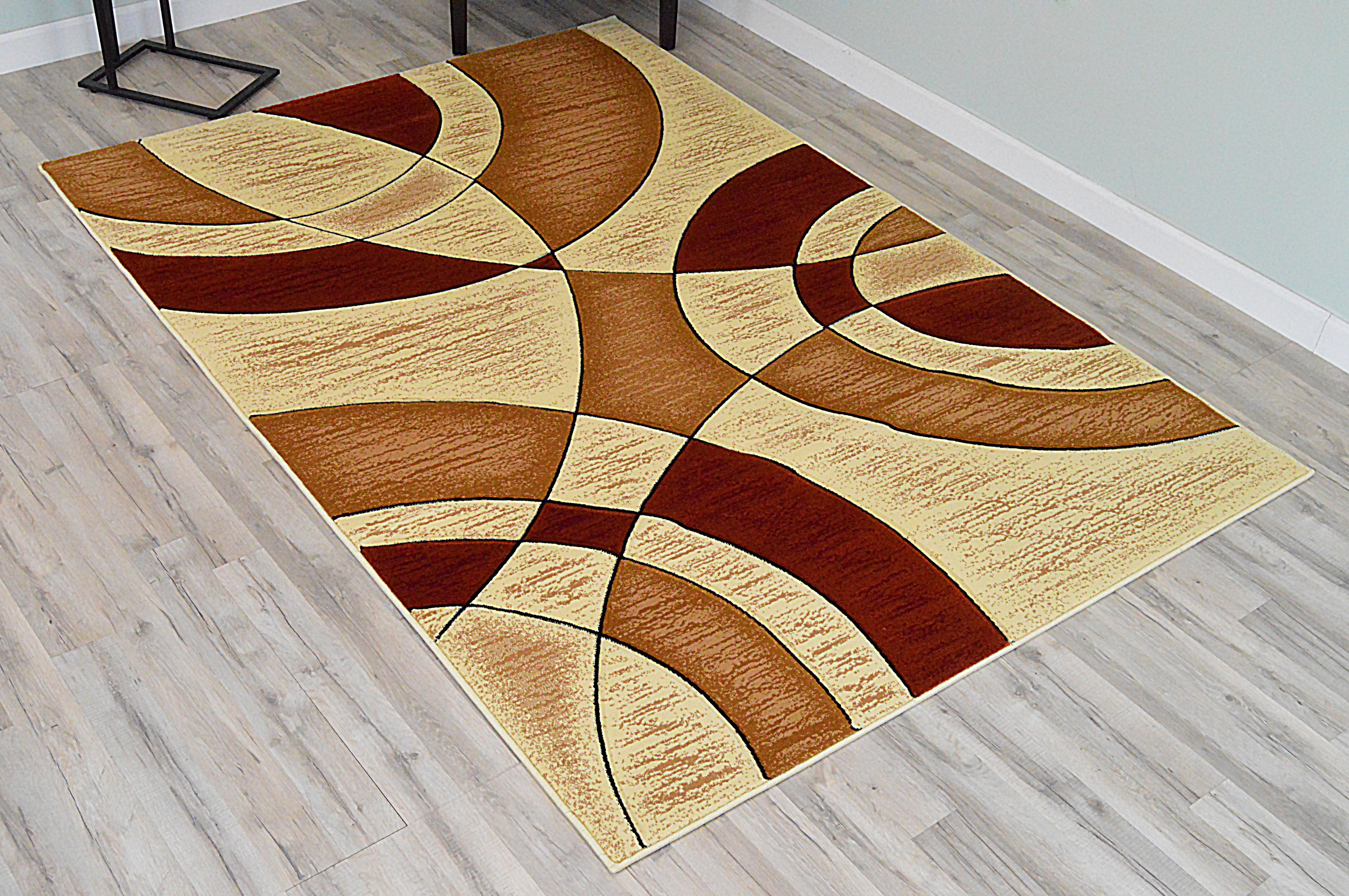 Orren Ellis Ilkley 3d Effect Thick Modern Contemporary Abstract Cream Area Rug Wayfair