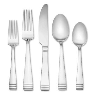 Mercer Frosted 45 Piece Flatware Set, Service for 8 (Set of 8)