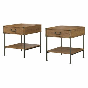 Ironworks End Table with Storage (Set of 2) by Kathy Ireland Office by Bush