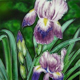 Lavender Iris Tile Wall Decor