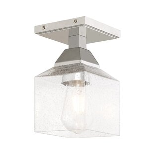 Novalee 1-Light Semi Flush Mount by Orren Ellis