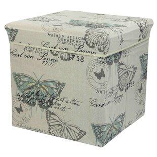 Home Basics Butterfly Cube Ottoman